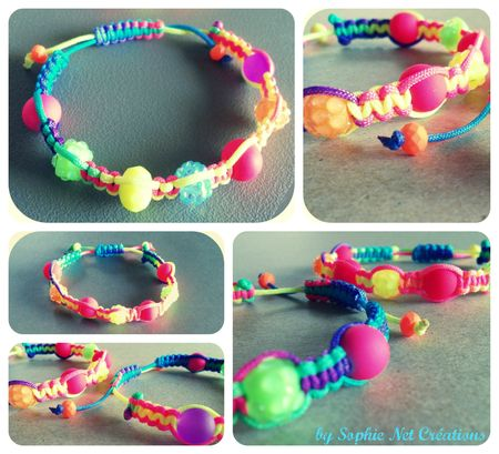 Collage shamballa scoubidous 3 + s