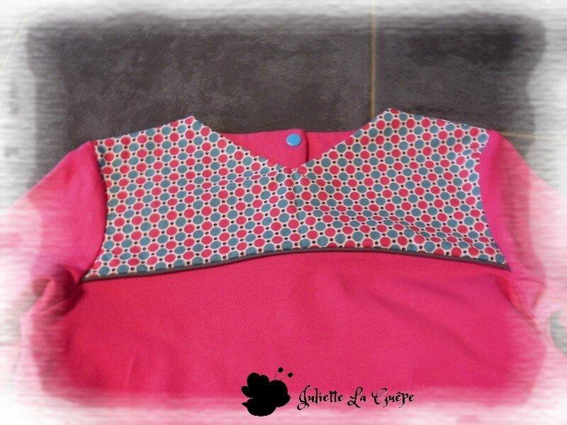 Gourmande legging guêtres rose bleu jean4