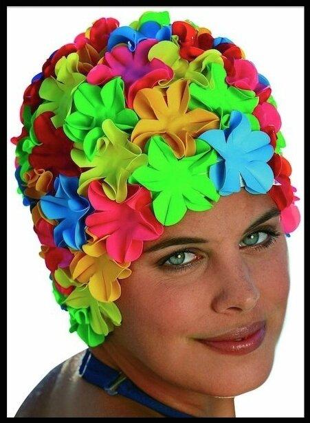 Bonnet de Bain Fleuri , Fashy