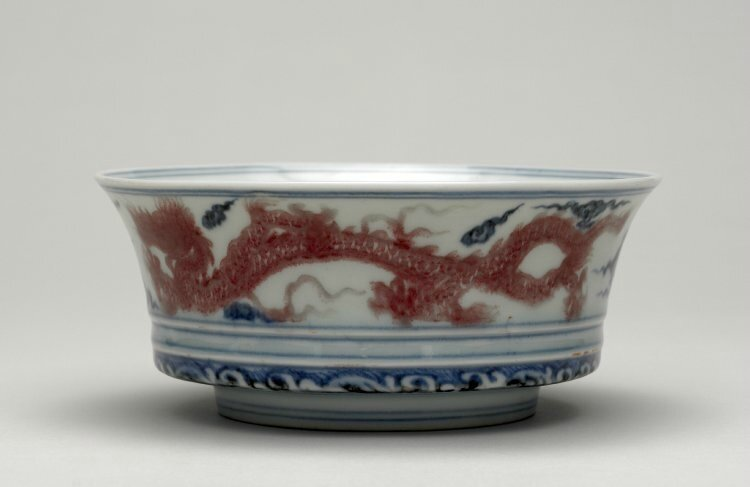 Box-bowl with iron-red dragons, Ming dynasty, Xuande mark and period, AD1426–35 PDFA678