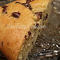 Cake pistache aux pépites de chocolat
