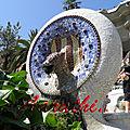 Ceramic Lamb Fountain, Parc Güell , Barcelona.