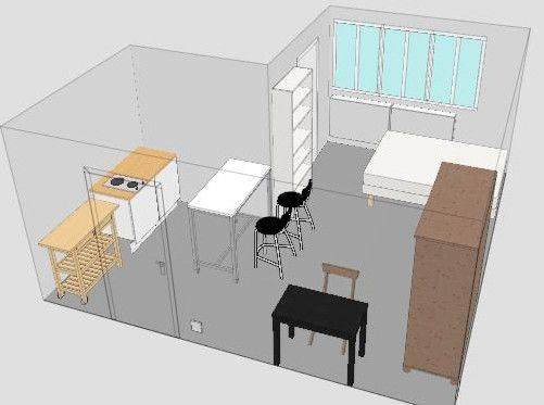 Autour d 39 un th citron for Plan amenagement studio 25m2