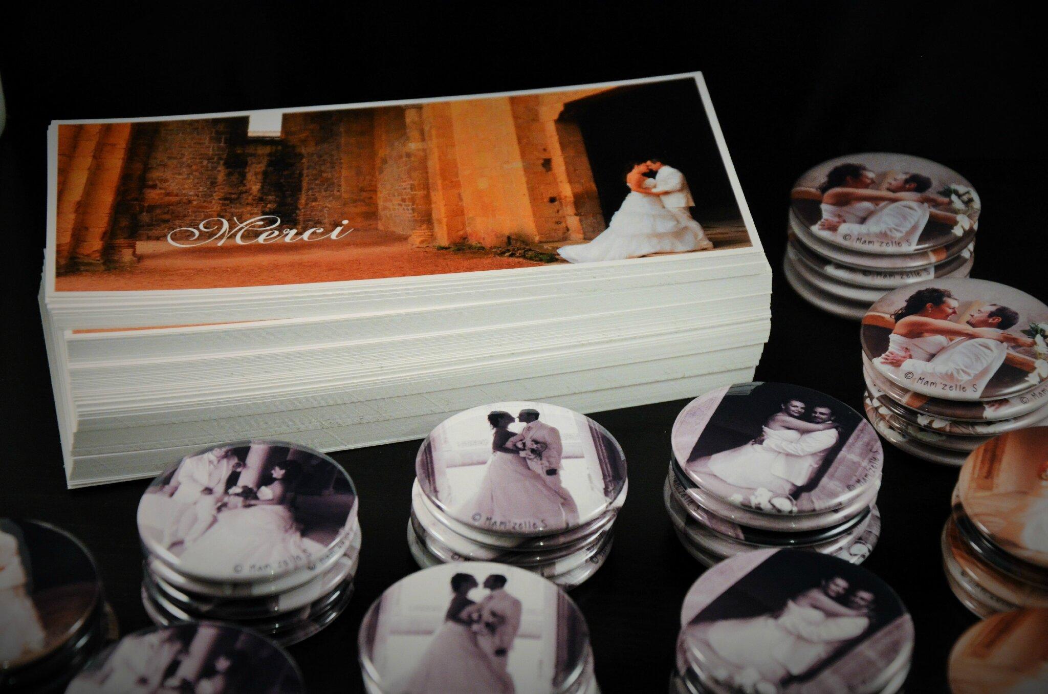 faire part de remerciement de mariage et son magnet - Montage Photo Remerciement Mariage