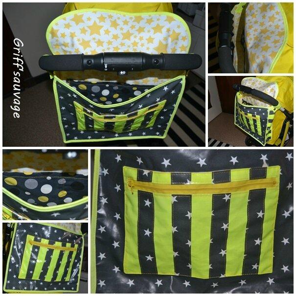 sac jaune à poussette1