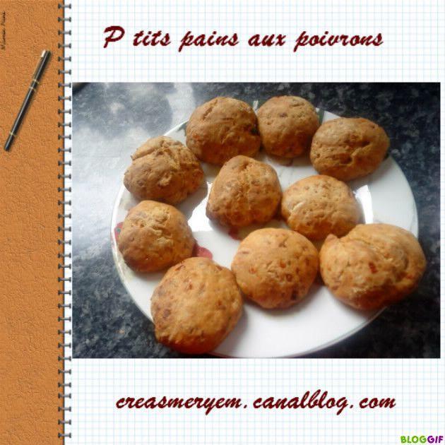 Tits pains aux poivrons