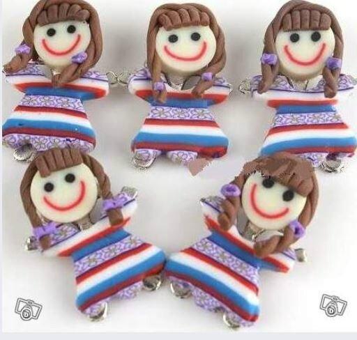 poupées rayées violette
