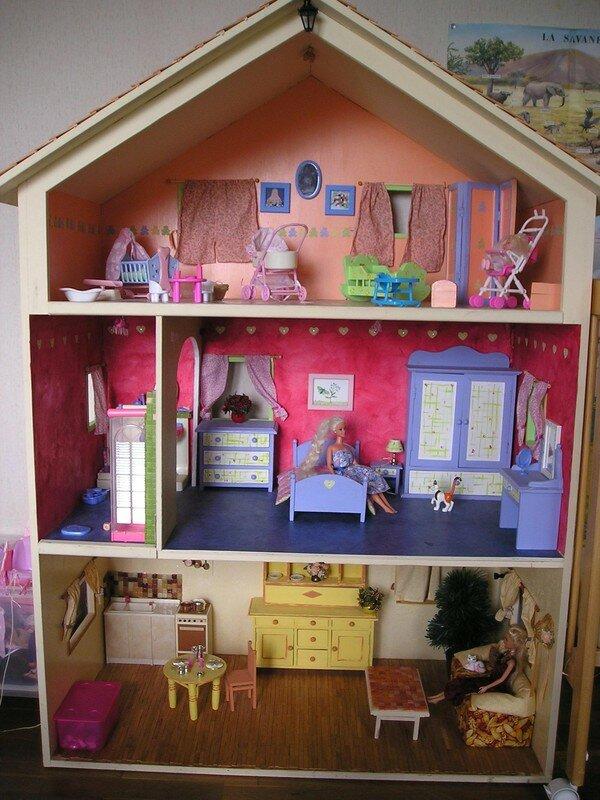 Maison pour barbie bois - Plan de maison de barbie ...