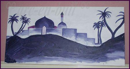 mosquée désert mauve 1 79-39,5 cm