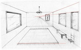 Salon dessin perspective for Dessin chambre en perspective