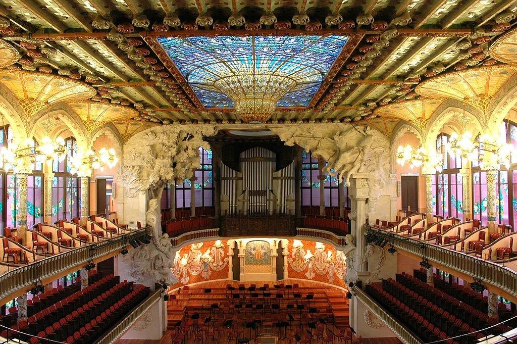 Mon top 10 architecture art nouveau n 4 le palau de la - Art nouveau architecture de barcelone revisitee ...