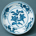 Two dishes. China, Jiangxi Province; Ming period (1368-1644), Xuande era, 1426 - 1435