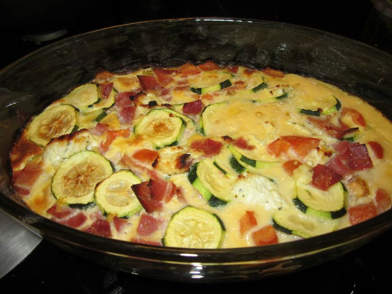 gratin jambon courgette tomate on mange quoi ce soir. Black Bedroom Furniture Sets. Home Design Ideas