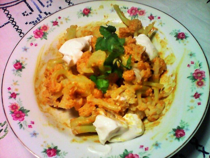 chou fleur au curry