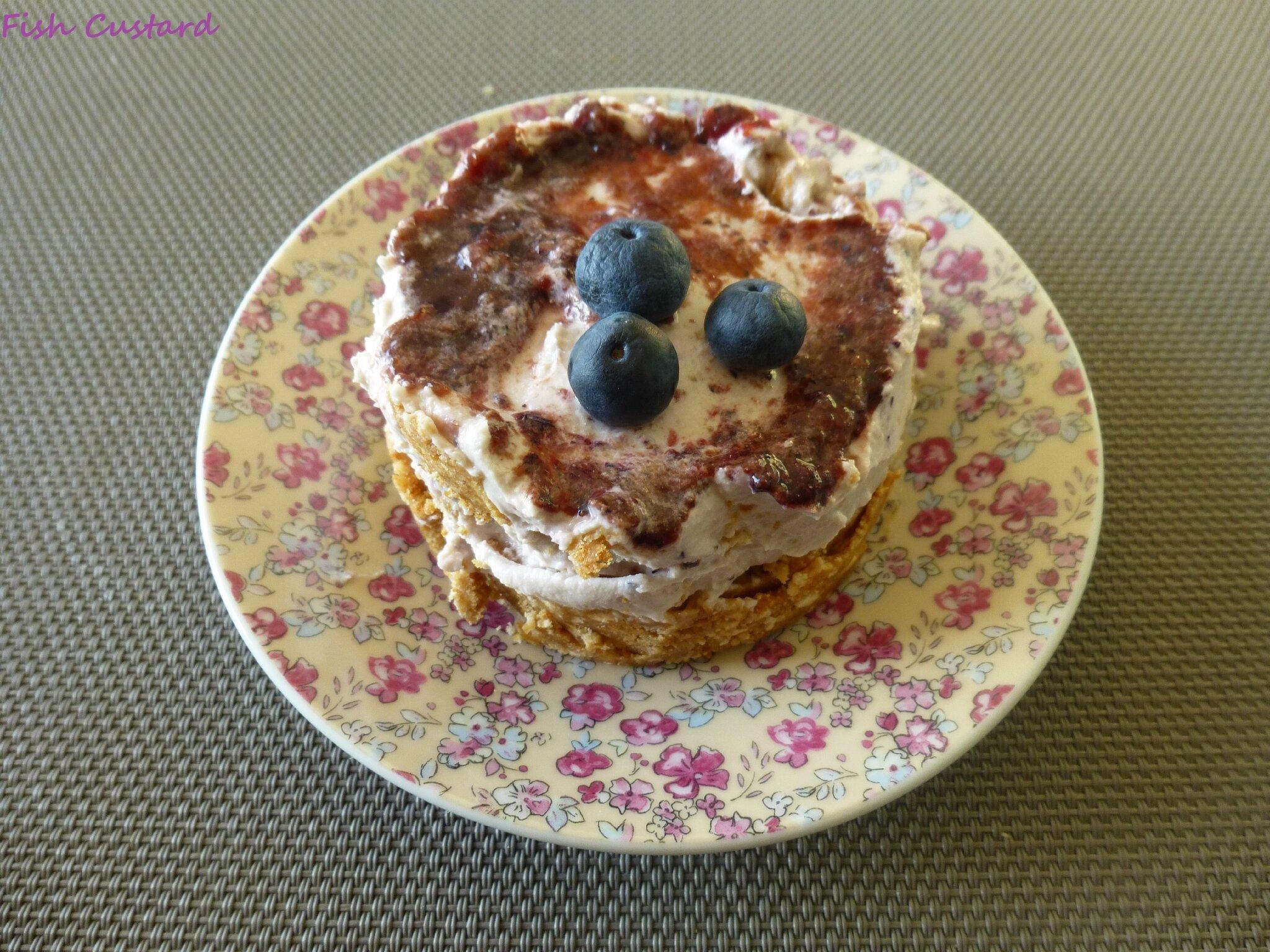Cheesecake individuel sans cuisson à la myrtille