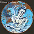Odette - Le lac des Cygnes Ghislaine Letourneur Peinture sur métal Huile - The lake of swans