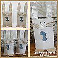 Déco lapins avec des rouleaux en carton