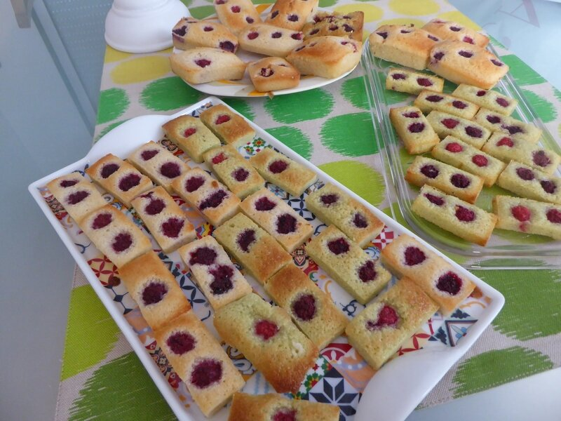 FINANCIER FRAMBOISES PISTACHES