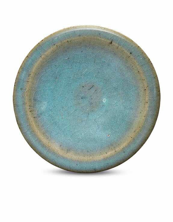 A small Jun blue-glazed dish, Jin-Yuan dynasty (1115-1368)