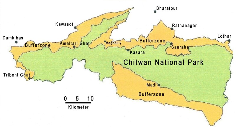 Chitwan-NP+bufferzone-map