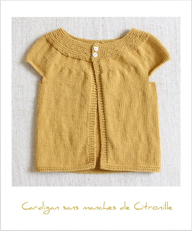 Cardigan sans manches à encolure arrondie Citronille