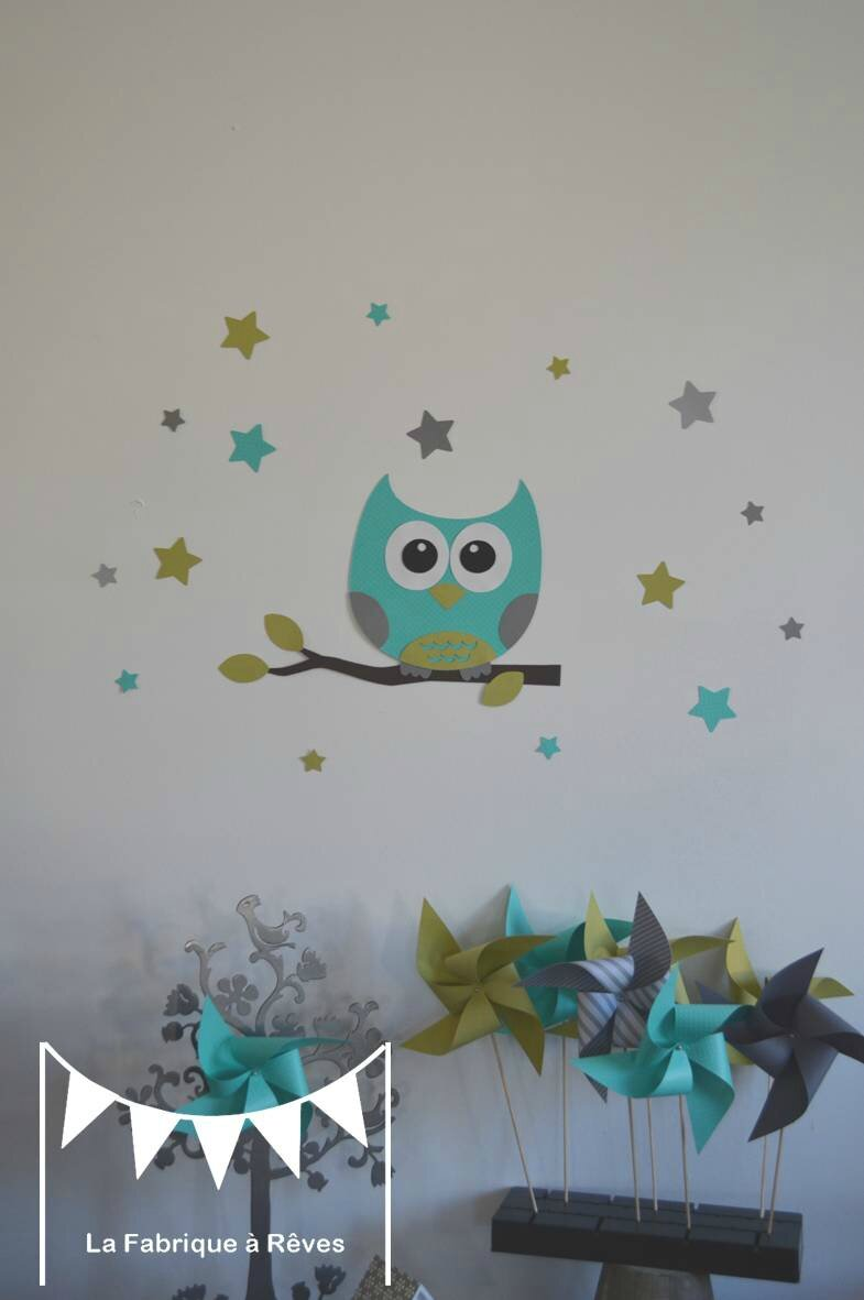 Stickers D Coration Chambre Enfant Fille B B Gar On Hibou