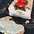 Terrine aux poissons et légumes, sauce chavroux