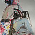 Dessin peinture de nus atelier tableau aquarelle acrylique couleur (15)
