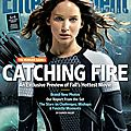 Couvertures de entertainment weekly + merchandising catching fire
