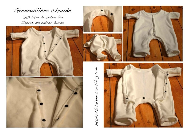 grenouillère laine de coton