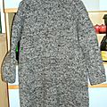 Pull robe gris chiné