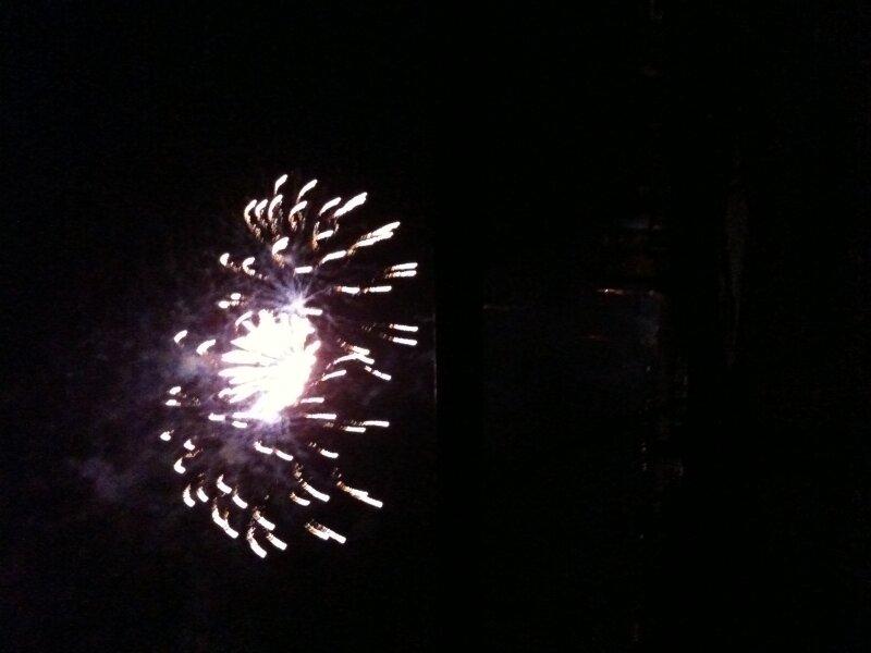dedicace pour le président: feux d artifice