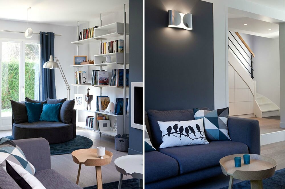 Bleu bois et blanc sonia saelens d co Collection contemporaine et scandinave