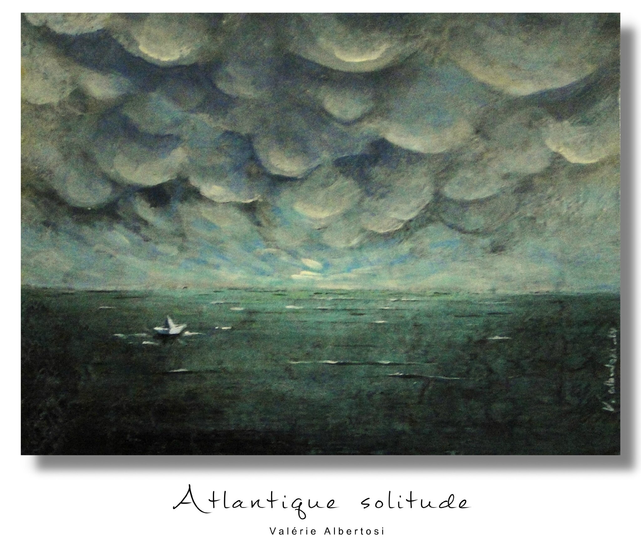 atlantique solitude tableau mer ocean ciel nuages orage valerie albertosi photo de mes toiles. Black Bedroom Furniture Sets. Home Design Ideas