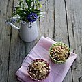 Muffins aux pommes et framboises, streusel aux flocons d'avoine