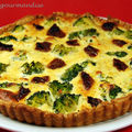 Quiche aux brocolis, tomates sches et ricotta