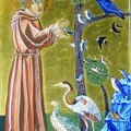icône de Saint François et les oiseaux