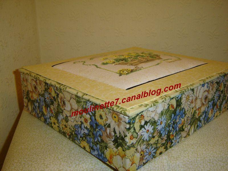 Boîte panier Lanarte 22x25cm hauteur 6,5cm