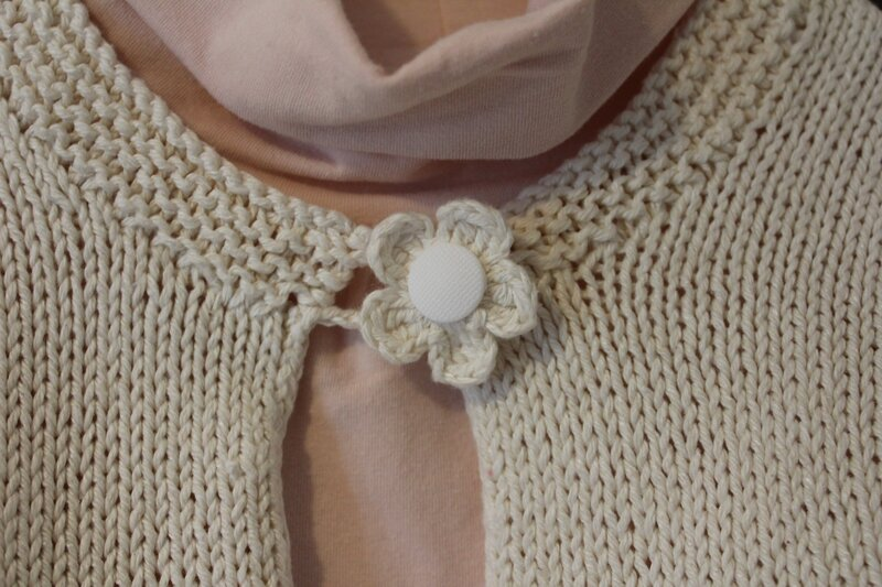 bouton fleur gilet