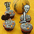 Cupcakes noirs pour halloween