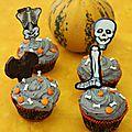 Cupcakes noirs pour halloween