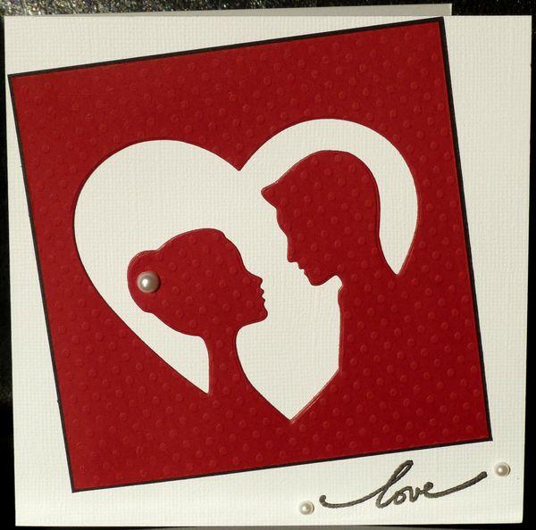 Une inspi un coeur un couple d 39 amoureux une carte pour la st valentin les 2 - Coeur d amoureux ...