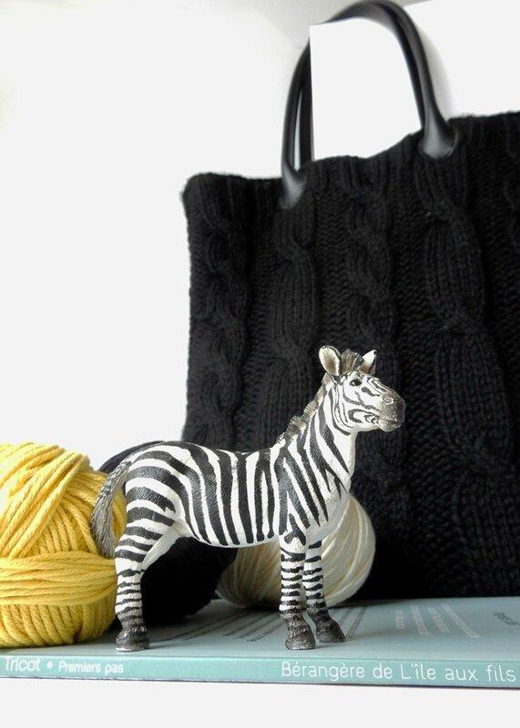 tote bag irlandais dans tricot premiers pas de l'île aux fils- Anisbee