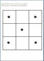 matrice damier et lignes verticales