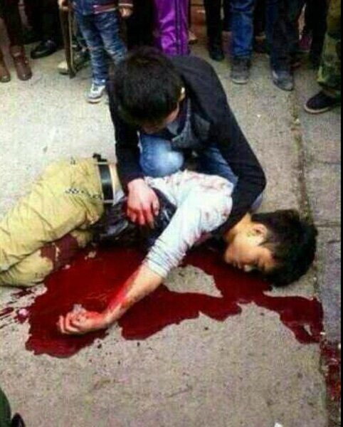 Manif chine victime 00