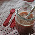 Smoothie fraise-banane-melon
