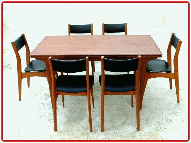 salle manger vintage scandinave annees 1960 vendu. Black Bedroom Furniture Sets. Home Design Ideas