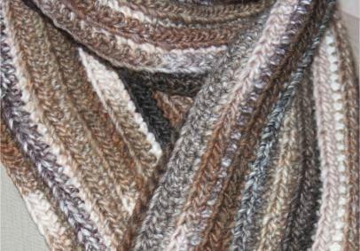 Mod le gratuit une charpe pour homme hyper rapide crocheter avant no l easy crochet - Tricoter une echarpe homme ...
