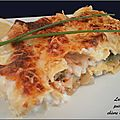 Lasagne de poireaux, saumon et chvre