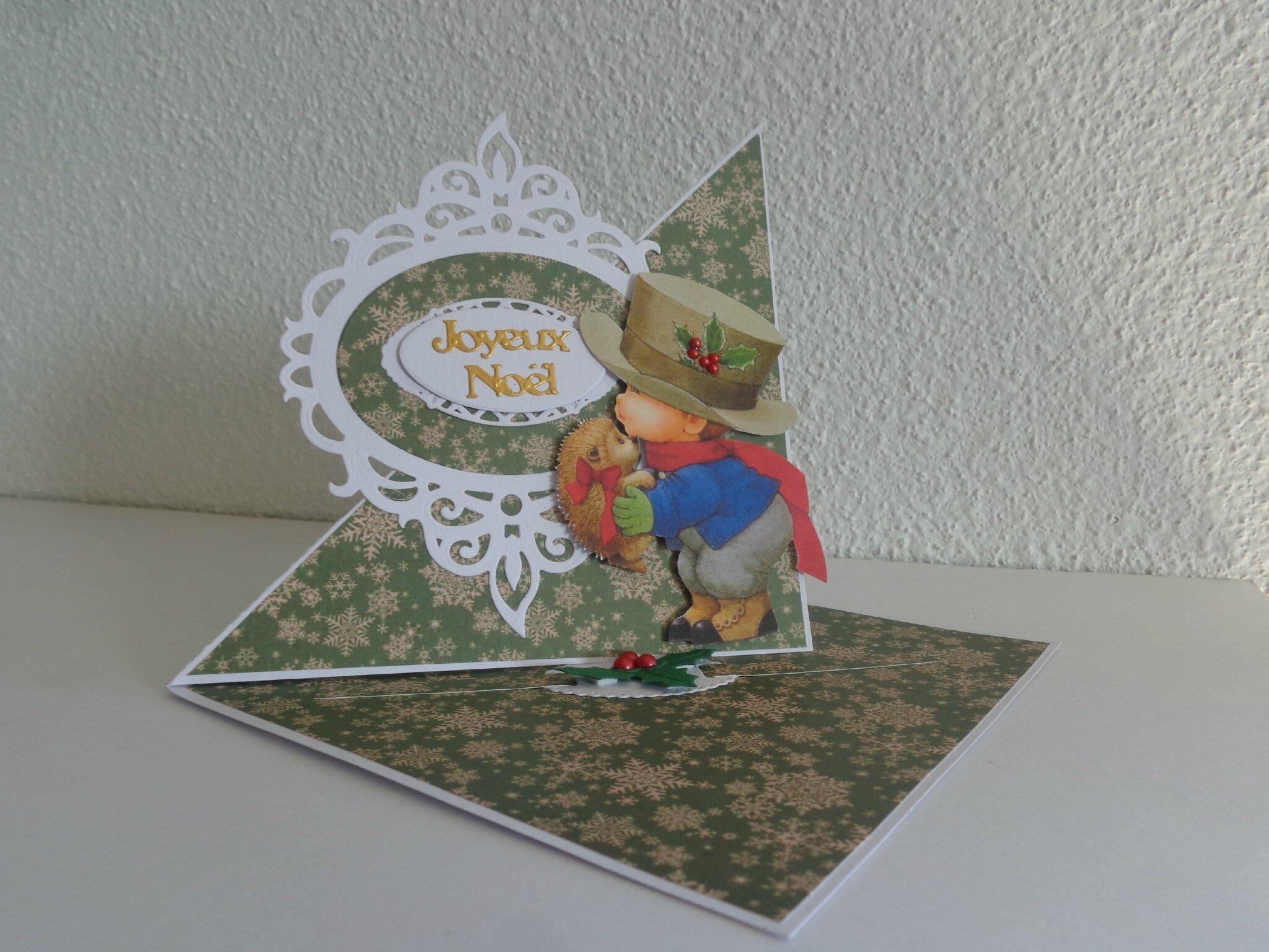 """Carte chevalet """"frame joyeux noël"""""""